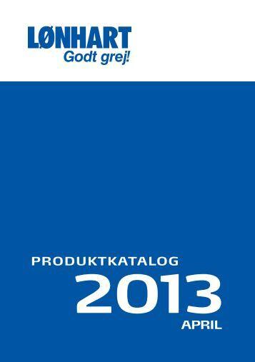 Produktkatalog 2013 - Helge Lønhart A/S