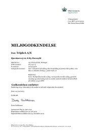 læs miljøgodkendelse af TripleA A/S - Miljøstyrelsen