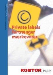 Private labels fortrænger mærkevarer - Kontorpapir