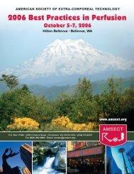 Best Practices Program Sept 2006 - Minnesota Perfusion Society