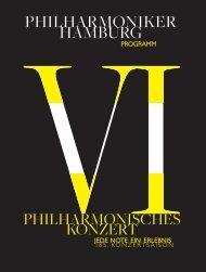 VI. Philharmonisches Konzert - Philharmoniker Hamburg