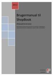 Brugermanual til ShopBook
