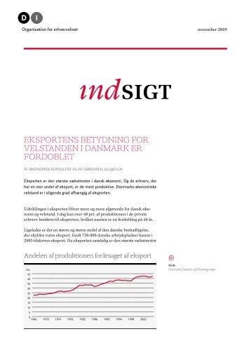 DI Indsigt - Eksportens betydning for velstanden i Danmark er fordoblet