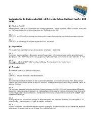Vedtægter for DSR UCSJ - University College Sjælland