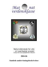 2004-06 Samlede undervisningsbeskrivelser - Matematik og ...