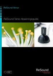 ReSound Verso tilpasningsguide (Sidst opdateret ... - GN ReSound