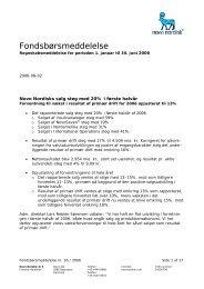 Fondsbørsmeddelelse - Novo Nordisk