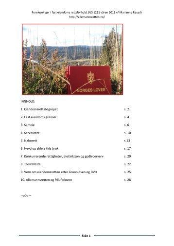 2. Fast eiendoms grenser