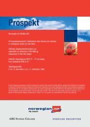 Prospekt - Norwegian