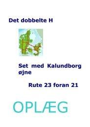 Det dobbelte H Set med Kalundborg øjne Rute 23 foran 21