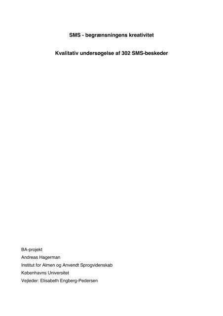 SMS - Akademisk Opgavebank