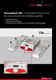 Produktflyer TB2 Thermoblock - Analytik Jena AG