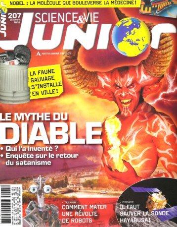 Article magazine « Science et vie junior - Yan D - Index