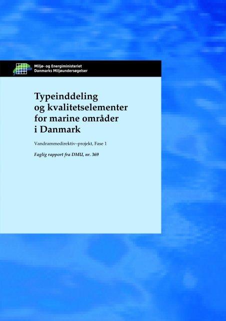 Typeinddeling og kvalitetselementer for marine områder i Danmark