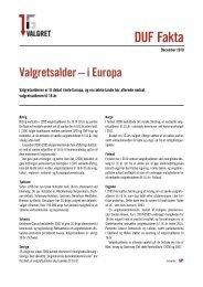 Valgret - i Europa - Dansk Ungdoms Fællesråd