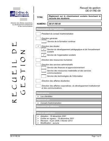 DE-01-RE-09 - Portail du College de Valleyfield - Collège de ...