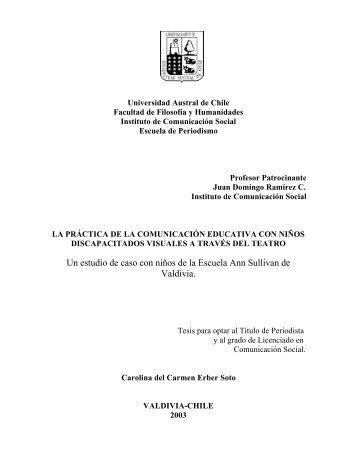 Un estudio de caso con niños de la Escuela Ann Sullivan de Valdivia.