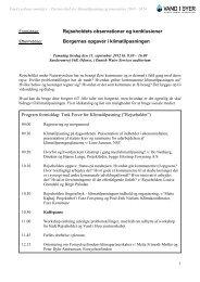 Program for stormøde den 11. september 2012 - Vand i Byer