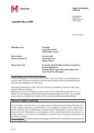 Tilsynsrapport 2009 - Den Sociale Virksomhed