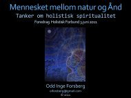 Mennesket mellom natur og Ånd - Holistisk Forbund
