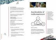 Anerkendelse af realkompetencer - SCKK - Statens Center for ...