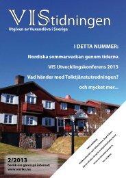 VIStidningen 2/2013 - VIS » Vuxendöva i Sverige