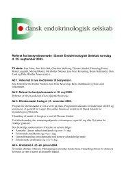 Referat fra bestyrelsesmøde i Dansk Endokrinologisk Selskab ...