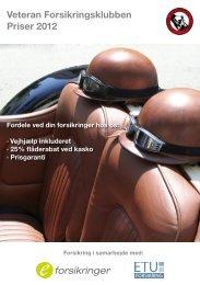 Veteran Forsikringsklubben Priser 2012 - e-forsikringer