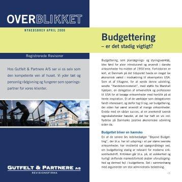Budgettering - Gutfelt & Partnere A/S
