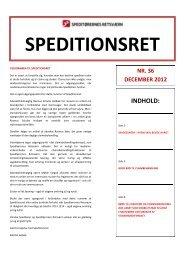 Speditionsret nr. 36 - Danske Speditører