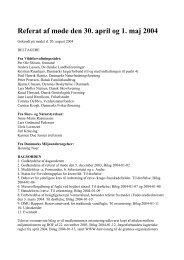 Referat af VFR-møde den 30. april og 1. maj 2004 - Naturstyrelsen