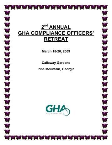 2 annual gha compliance officers retreat epstein becker green