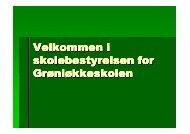 (Microsoft PowerPoint - Velkommen i ... - Grønløkkeskolen