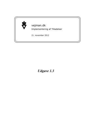 Implementering af Tilladelser i vejman.dk_20121121 - Om vejman.dk