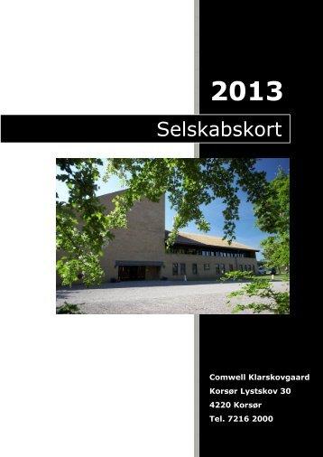 Selskabskort - Comwell Klarskovgaard