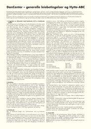 DanCenter – generelle leiebetingelser og Hytte-ABC