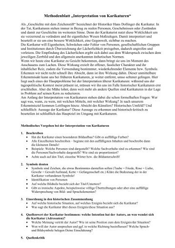"Methodenblatt ""Interpretation von Karikaturen"""