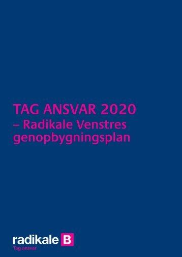 Tag ansvar 2020 - Radikale Venstre