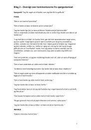 Bilag 2 – Oversigt over kommentarerne fra spørgeskemaet