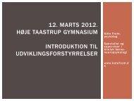 12. Marts 2012. Høje Taastrup Gymnasium Introduktion til ...