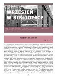 Wrzesień w Bibliotece - Biblioteka Uniwersytecka w Warszawie ...