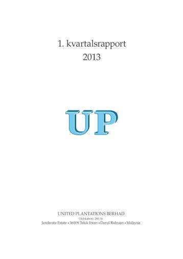 1. kvartalsrapport 2013 - GlobeNewswire