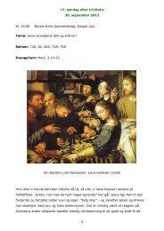 17. søndag efter trinitatis 30. september 2012 1 Kl ... - Burkal Kirke