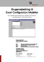 Excel Configuration Modeller - Brugervejledning - Teknologisk Institut