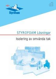 STYROFOAM Lösningar Isolering av omvända tak - Isover