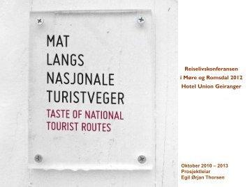 """Mat langs Nasjonal Turistveg"""" - Møre og Romsdal fylkeskommune"""