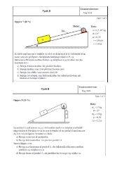 Opgaver til mekanik