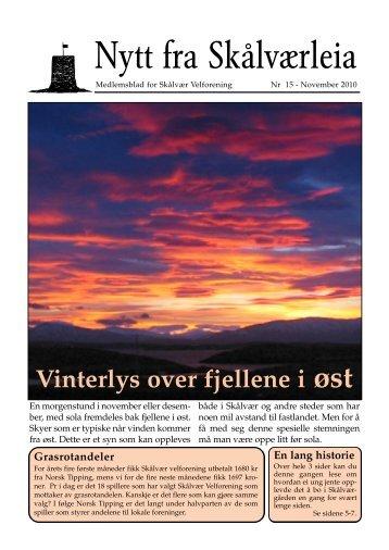 Skålværleia 2010 - Vegaøyans Venner