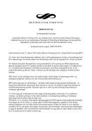 International udveksling af dna-registreringer - Retspolitisk Forening