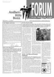 Forumnr. 4/09 Dezember 2009 G 10458 - Andheri-Hilfe Bonn